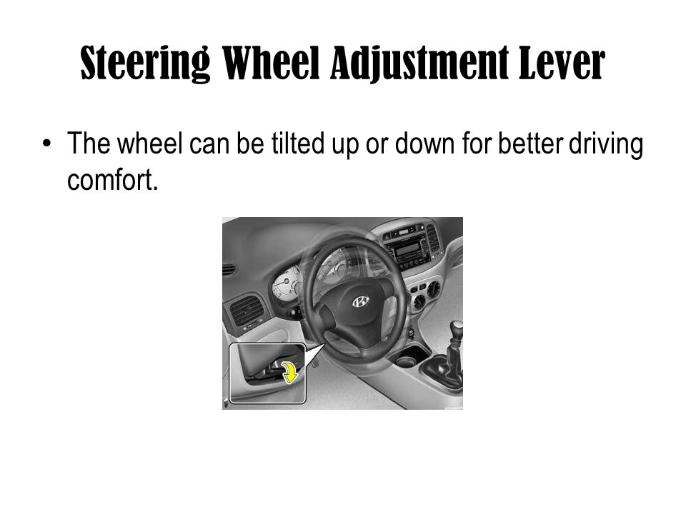 Steering Wheel Adjustment Lever