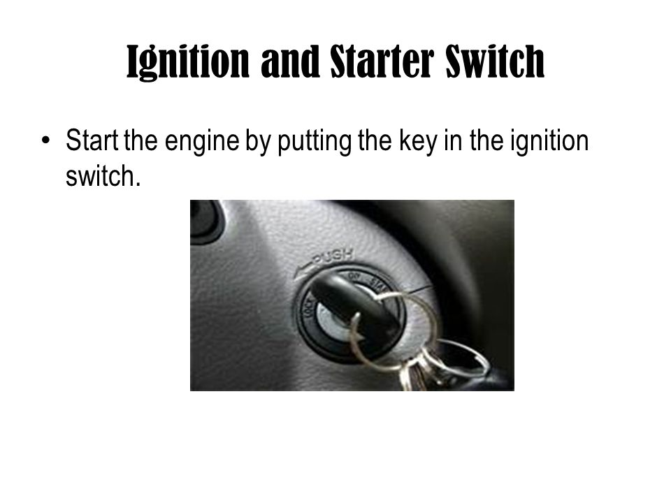 Ignition and Starter Switch