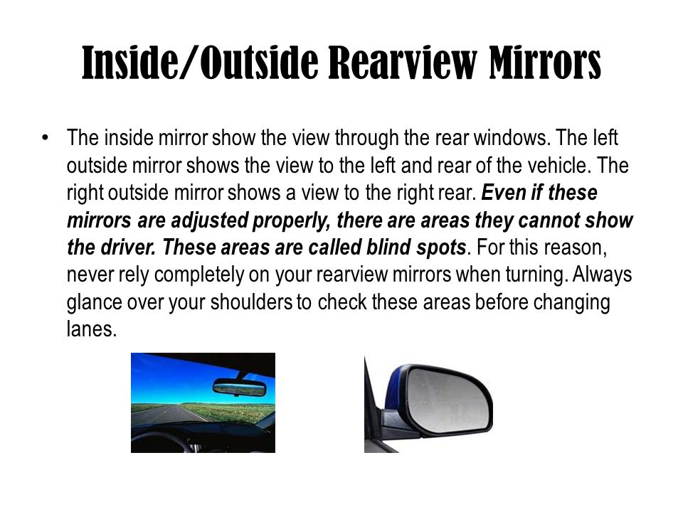 Inside/Outside Rearview Mirrors