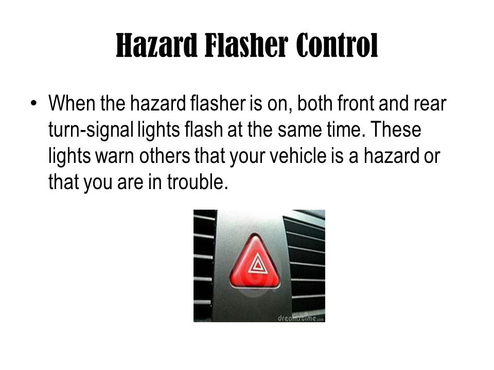 Hazard Flasher Control