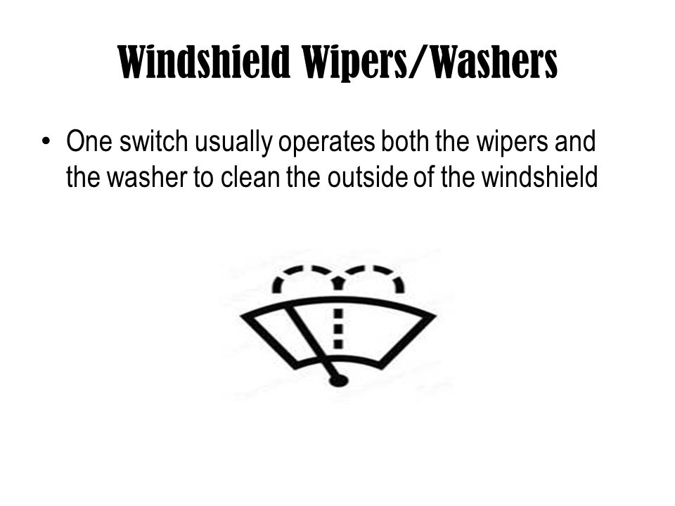 Windshield Wipers/Washers