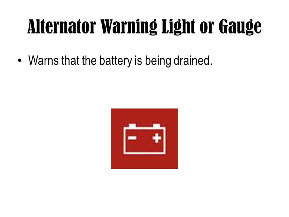 Alternator Warning Light or Gauge