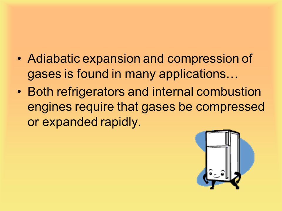 Adiabatic expansion and compression of gases is found in many applications…