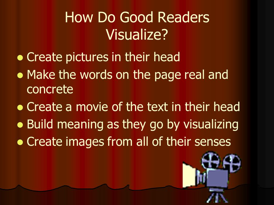 How Do Good Readers Visualize