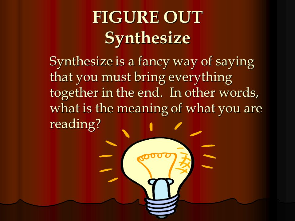 FIGURE OUT Synthesize