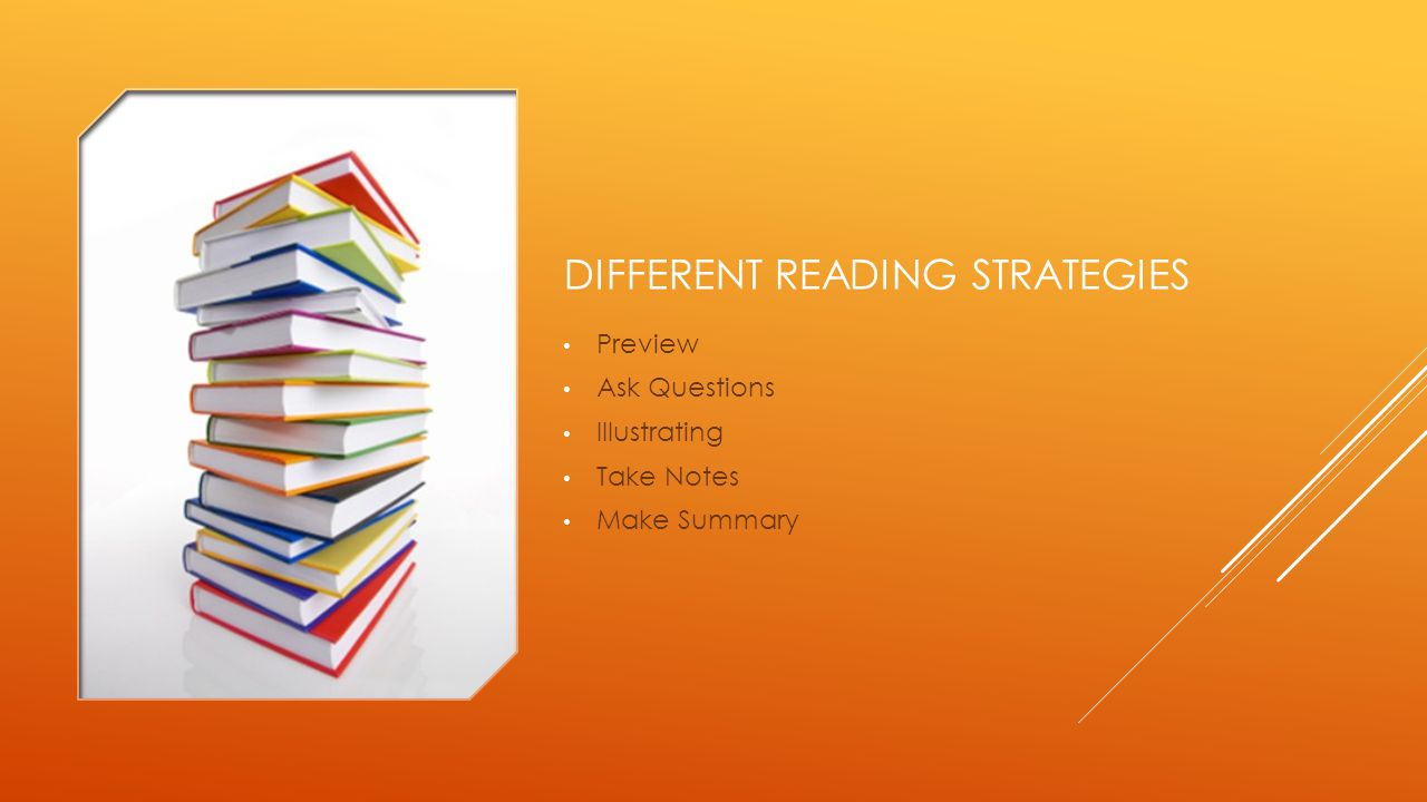 Different reading strategies