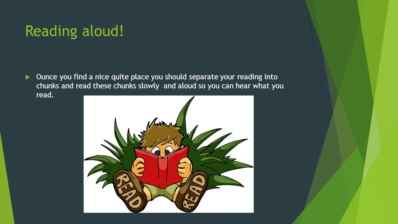 Reading aloud!