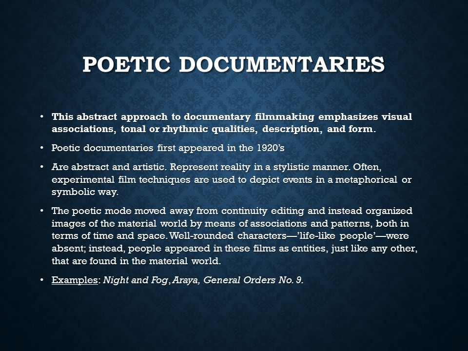 film abstract examples