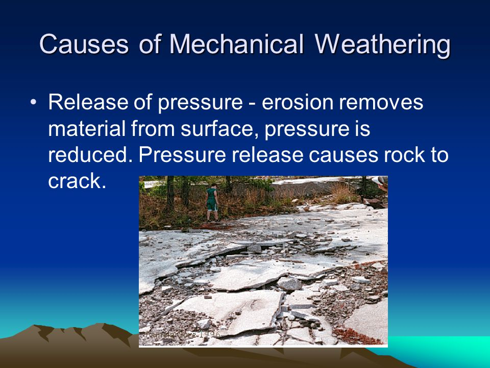 Causes of Mechanical Weathering