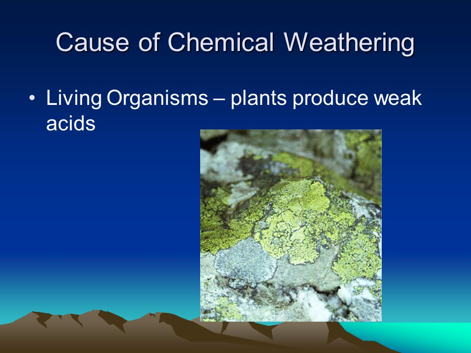 Cause of Chemical Weathering