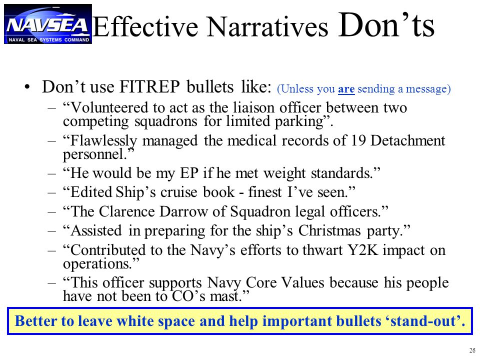 navy officer fitrep examples