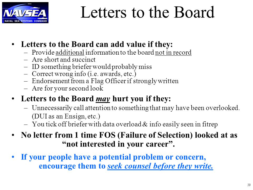 letters to the board letters to the board can add value if they