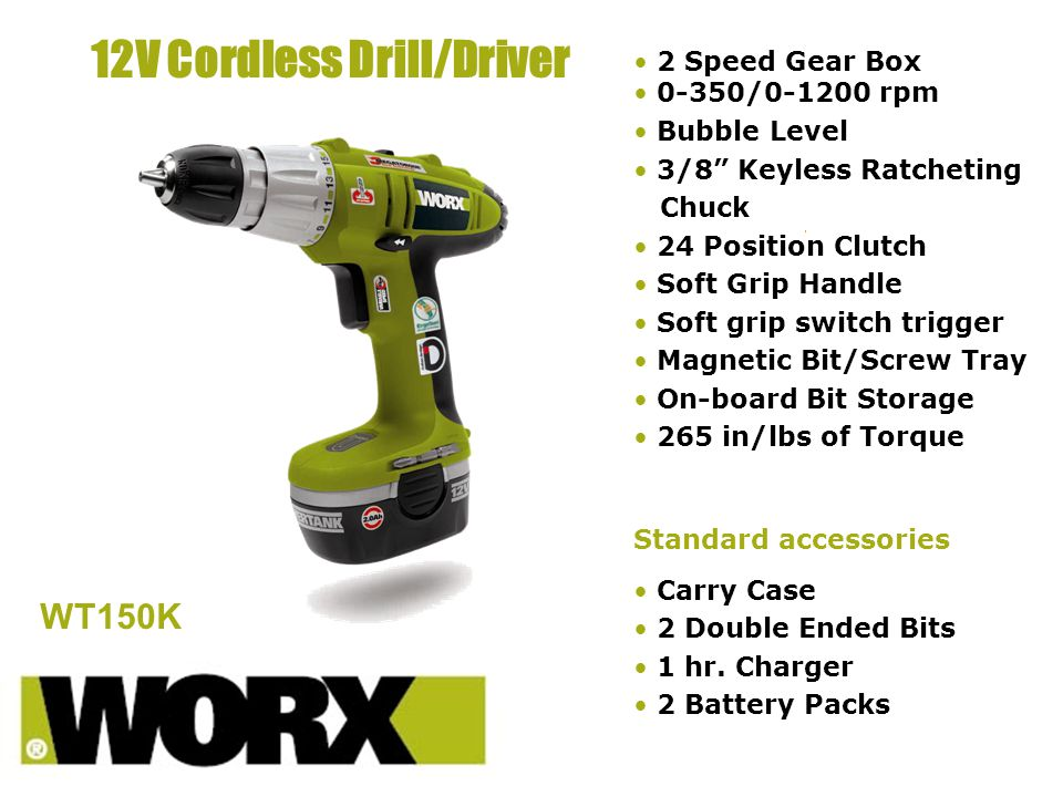 12V Cordless Drill/Driver - ppt download