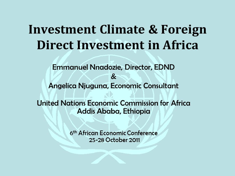 Conducive investment climate in ethiopia ralph giansanti infinex investments
