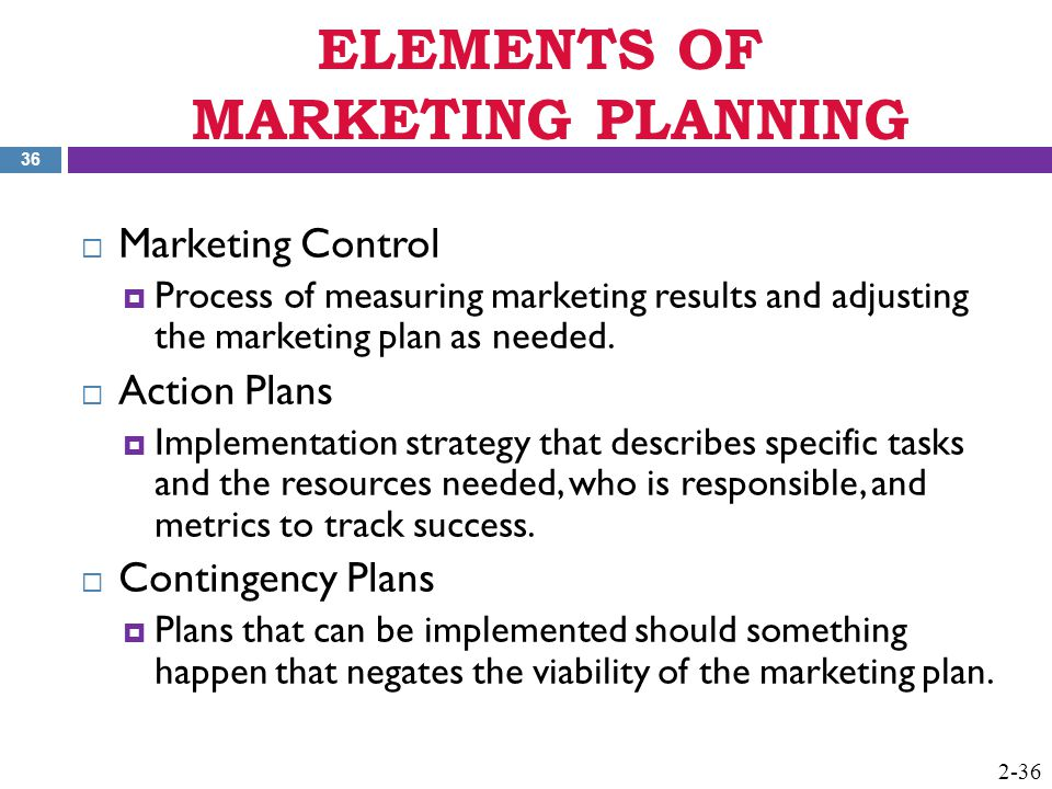 chapter 2 elements of marketing strategy and planning ppt download