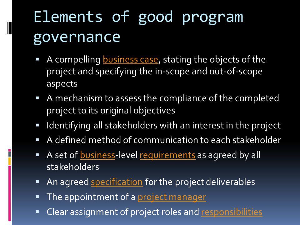 Program Governance Structure Setup Amp Management Ppt