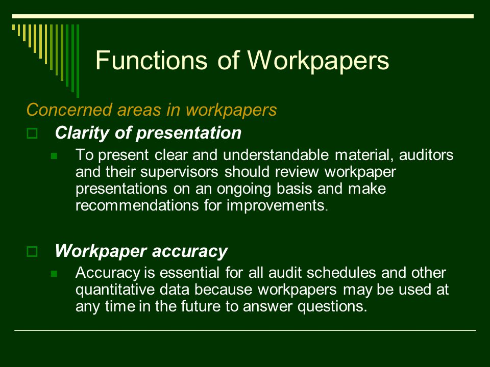 Workpapers: Documenting Internal Audit Activities - ppt