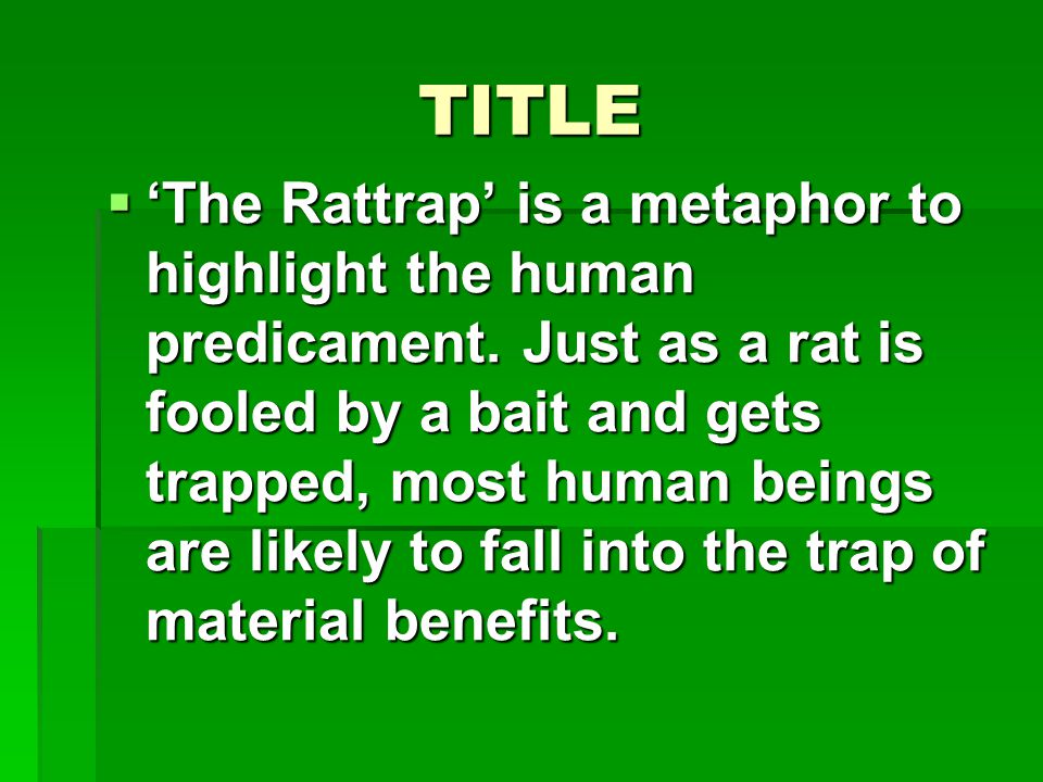 THE RATTRAP BY SELMA LAGERLOF - ppt video online download
