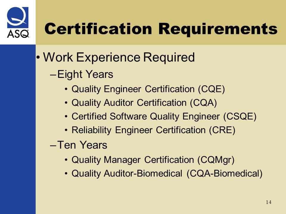 ASQ Certifications Joe Kirkpatrick September 22, ppt video