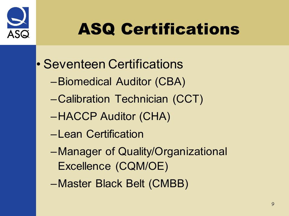 ASQ Certifications Joe Kirkpatrick September 22, ppt video online ...