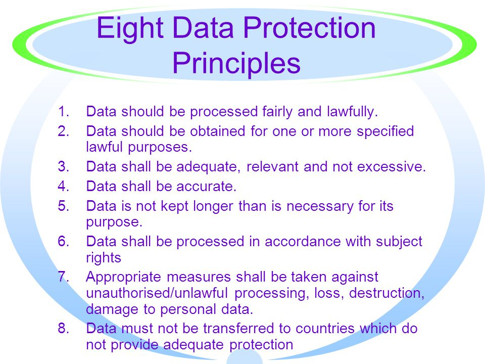 Eight Data Protection Principles