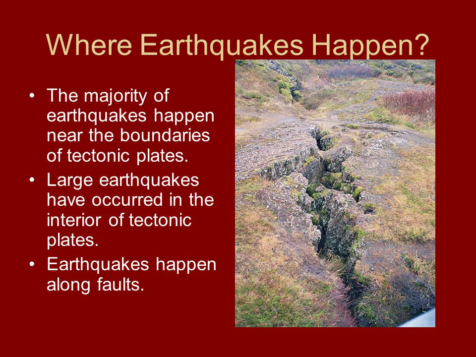 Where Earthquakes Happen