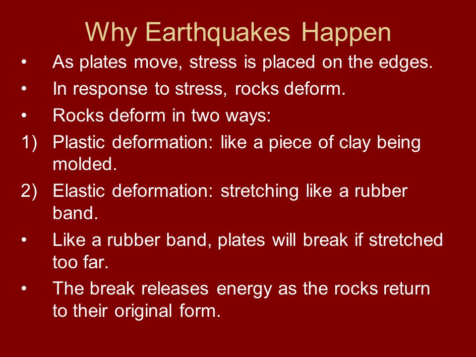 Why Earthquakes Happen