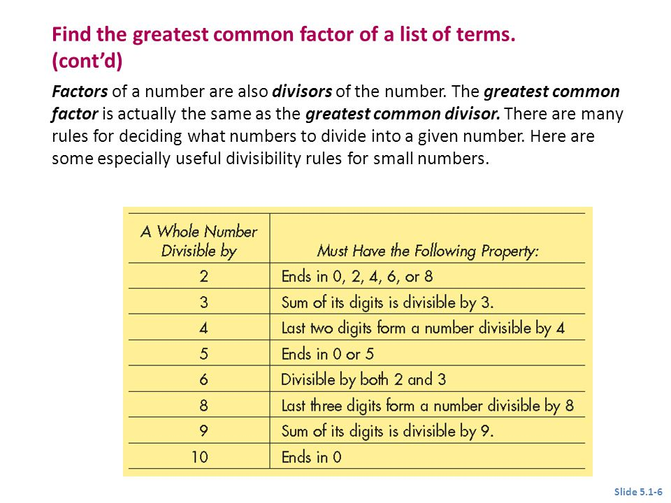 5.1 The Greatest Common Factor; Factoring by Grouping - ppt video ...