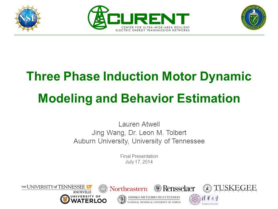 Three Phase Induction Motor Dynamic Modeling and Behavior Estimation