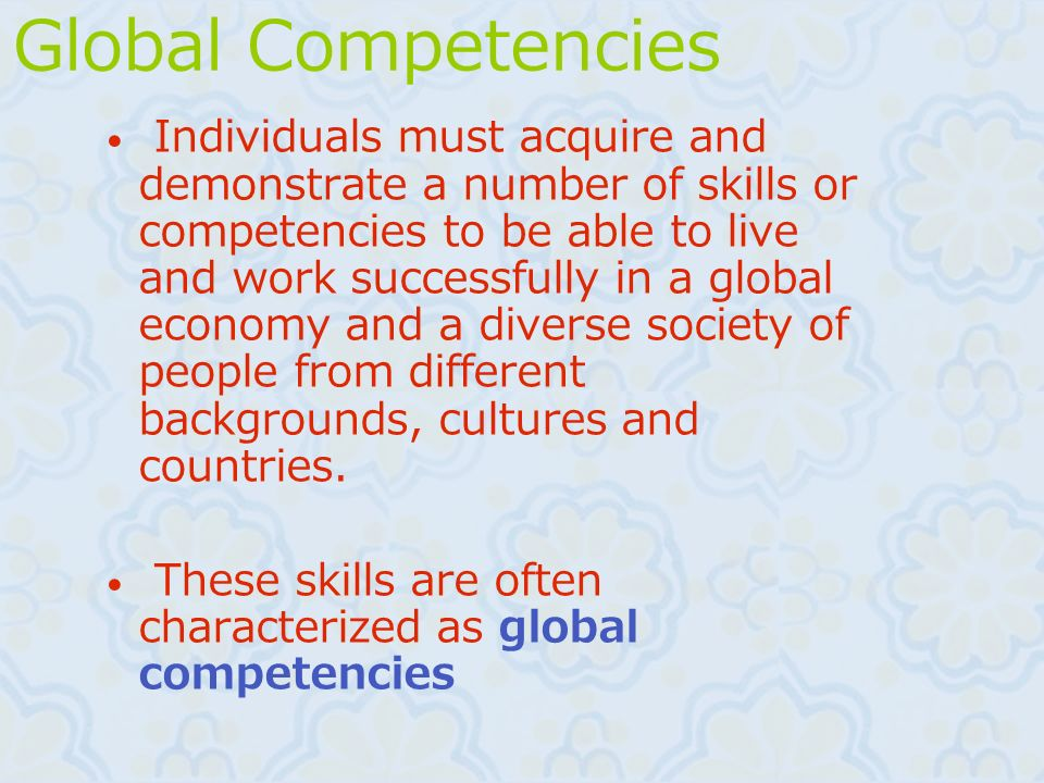 Global Competencies