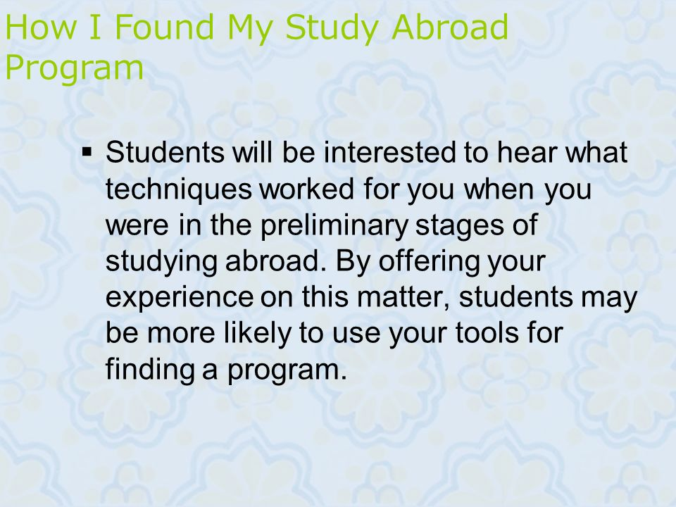 How I Found My Study Abroad Program