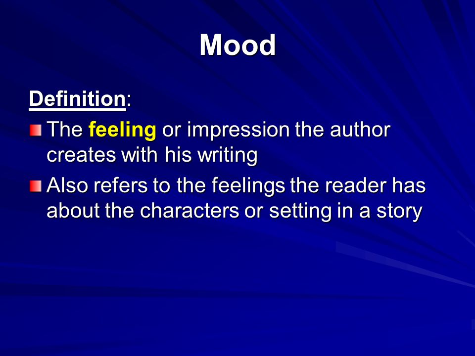mood meaning in literature