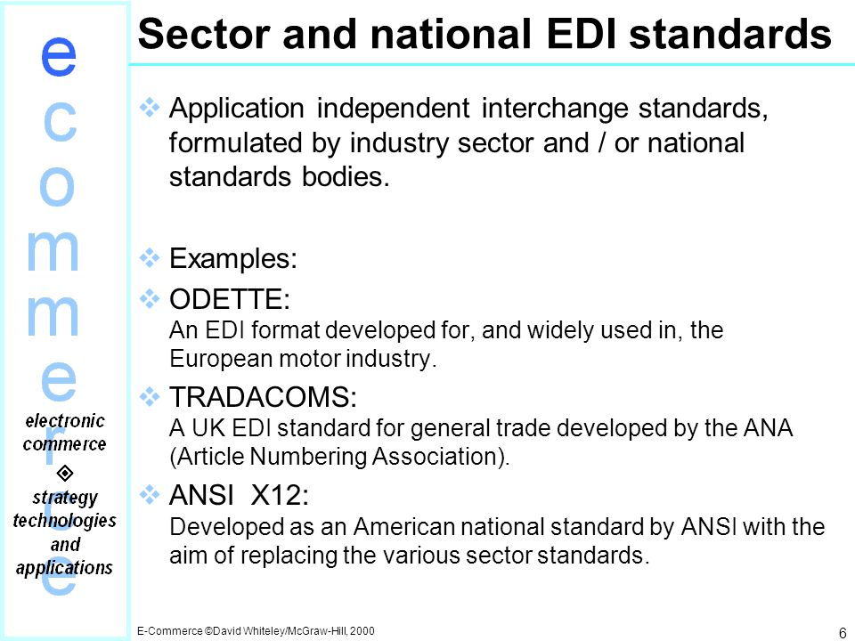 Chapter 9: EDI – the nuts and bolts - ppt video online download