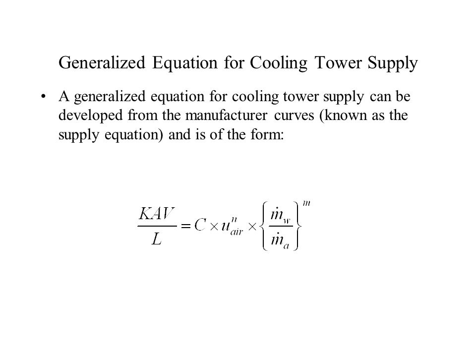 Thermal Analysis and Design of Cooling Towers - ppt download