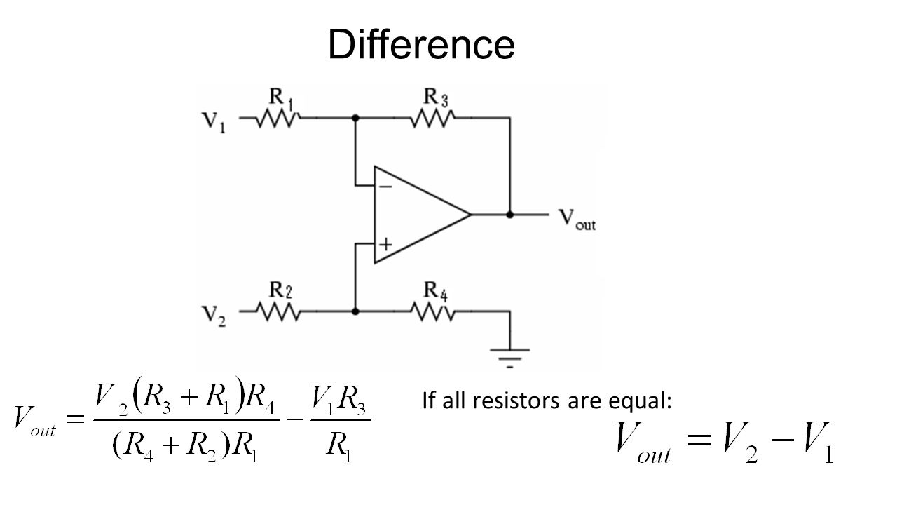 Difference If all resistors are equal: