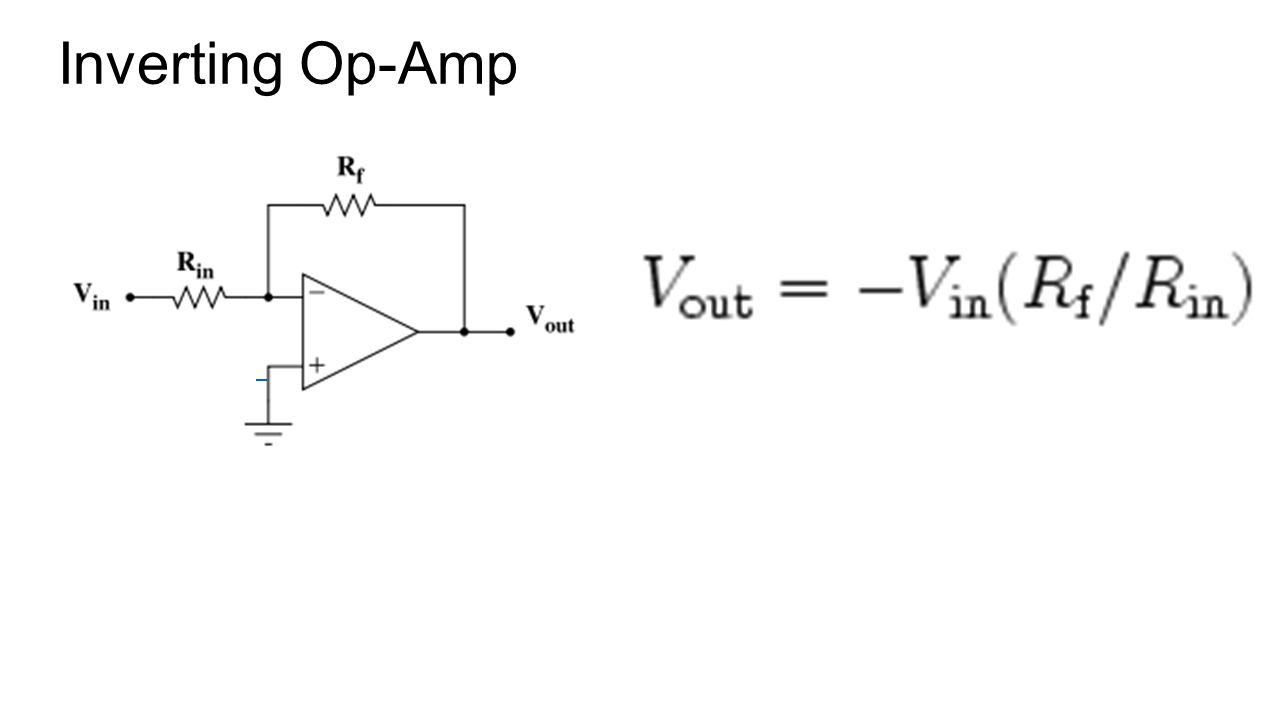 Operational Amplifiers Ppt Video Online Download The 741 Opamp Is A Common General Purpose Amplifier 9 Inverting Op Amp
