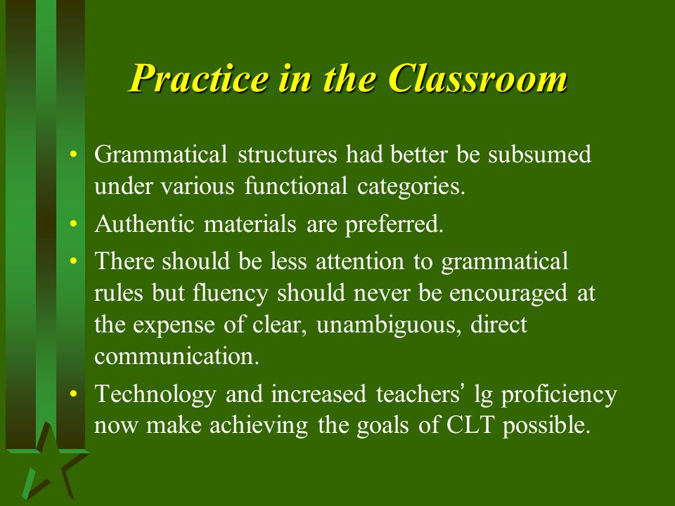 Practice in the Classroom