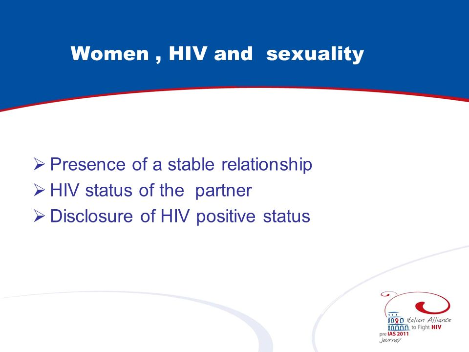 Women , HIV and sexuality