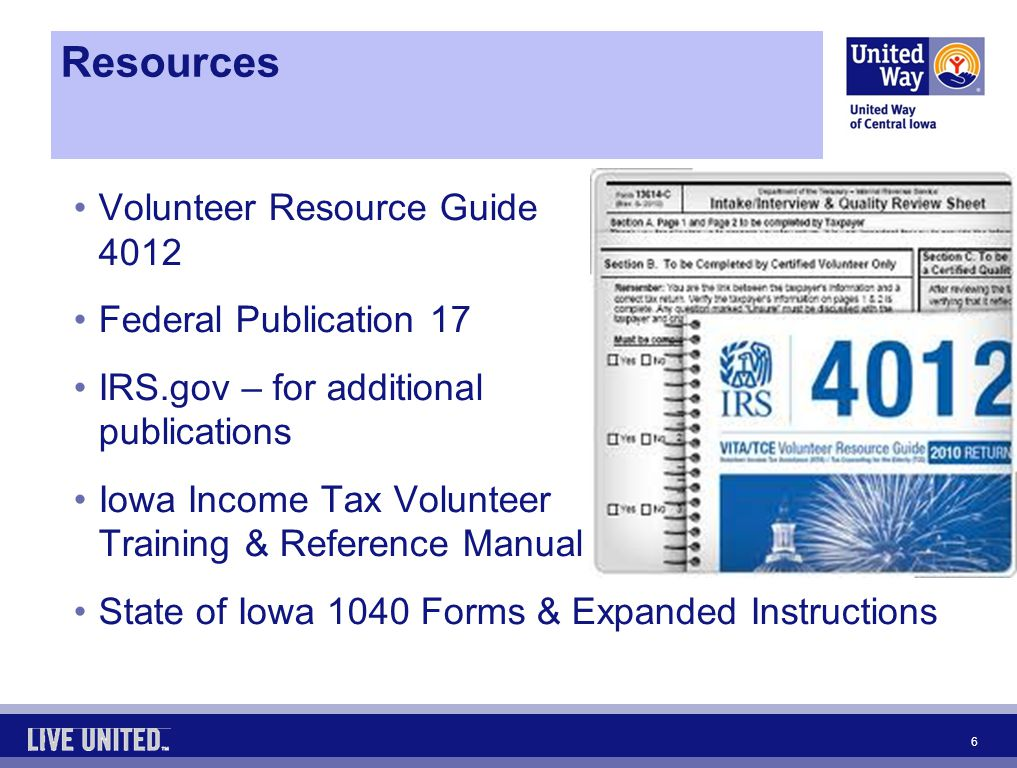 United Way Of Central Iowa Larry Davis Cecilia Gass Tax Year Ppt