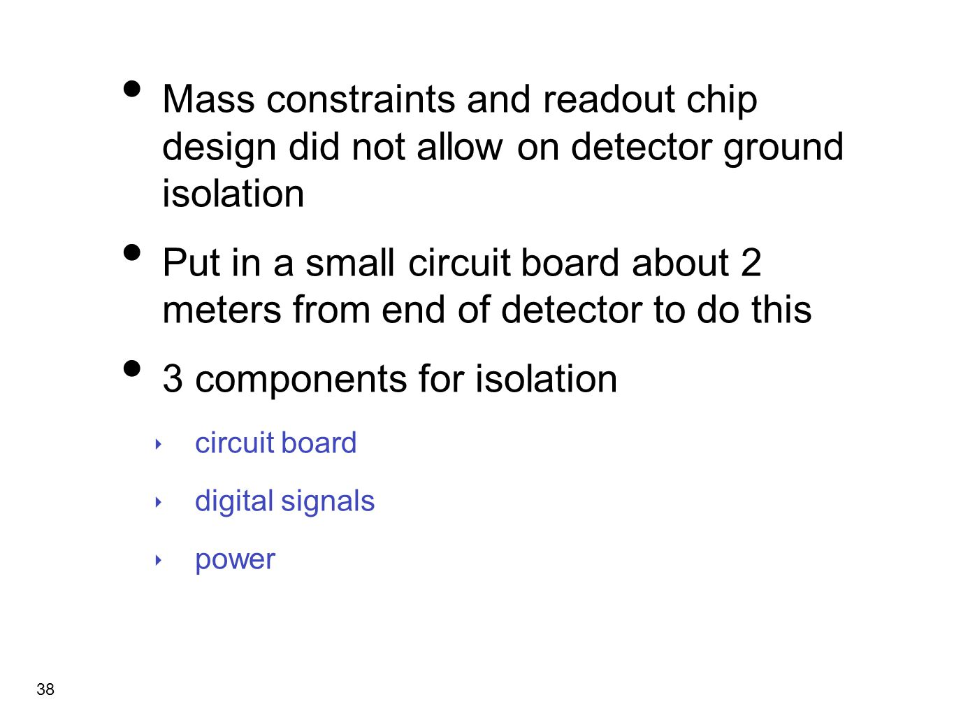 Low Noise Detector Design Ppt Video Online Download Power Circuit 3 Components For Isolation