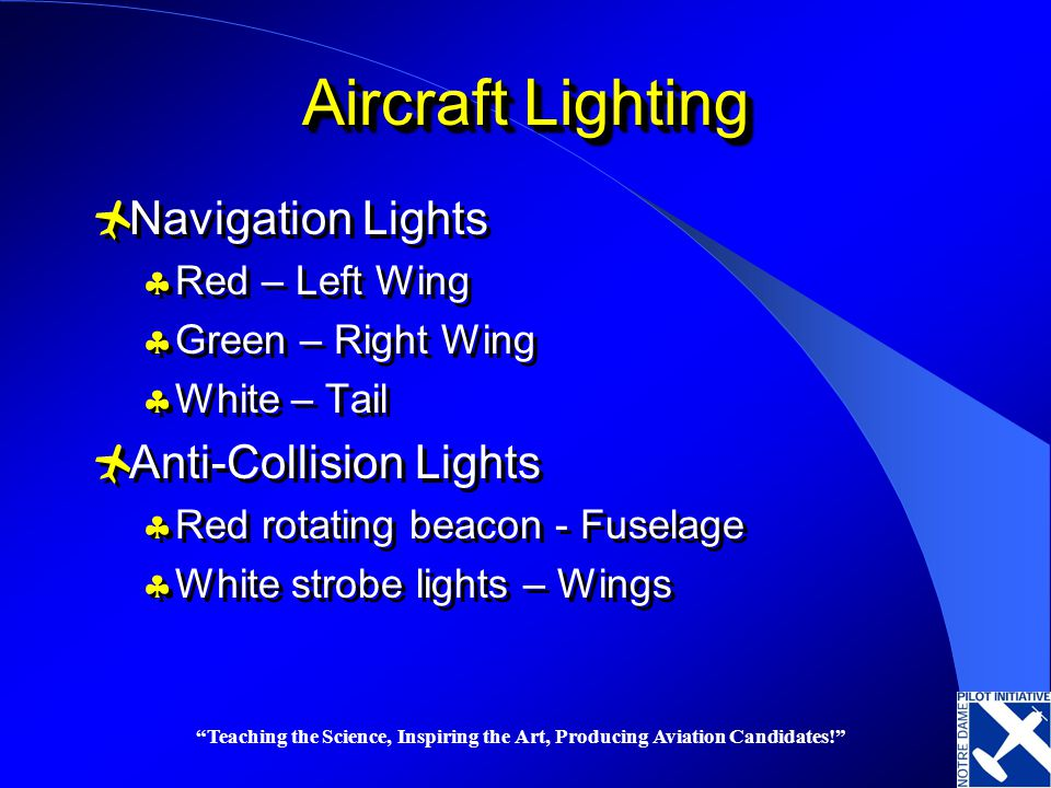 Aircraft Lighting Navigation Lights Anti Collision Lights