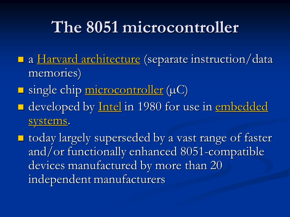 The 8051 Microcontroller Architecture Ppt Video Online Download