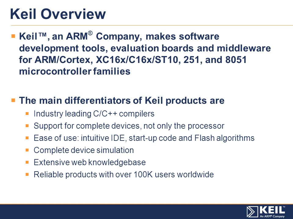 Keil Products in a Single Slide - ppt video online download