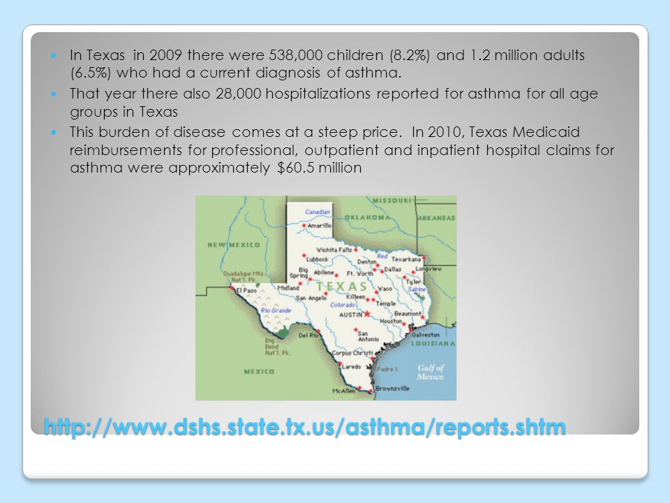 In Texas in 2009 there were 538,000 children (8. 2%) and 1