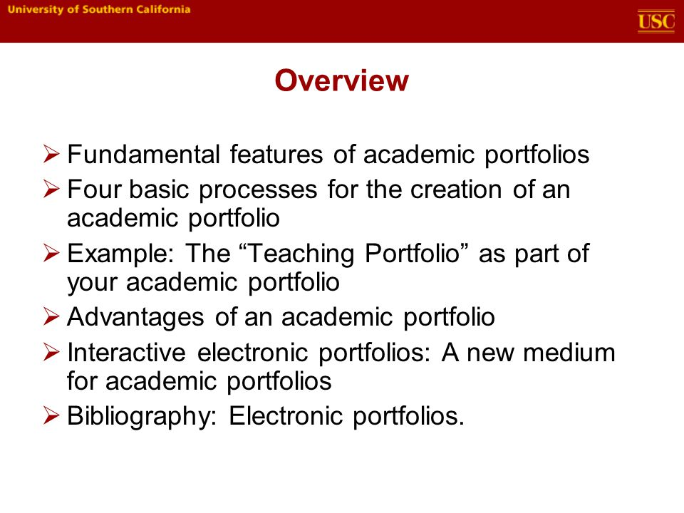 Introduction to academic portfolios ppt video online download overview fundamental features of academic portfolios altavistaventures Gallery