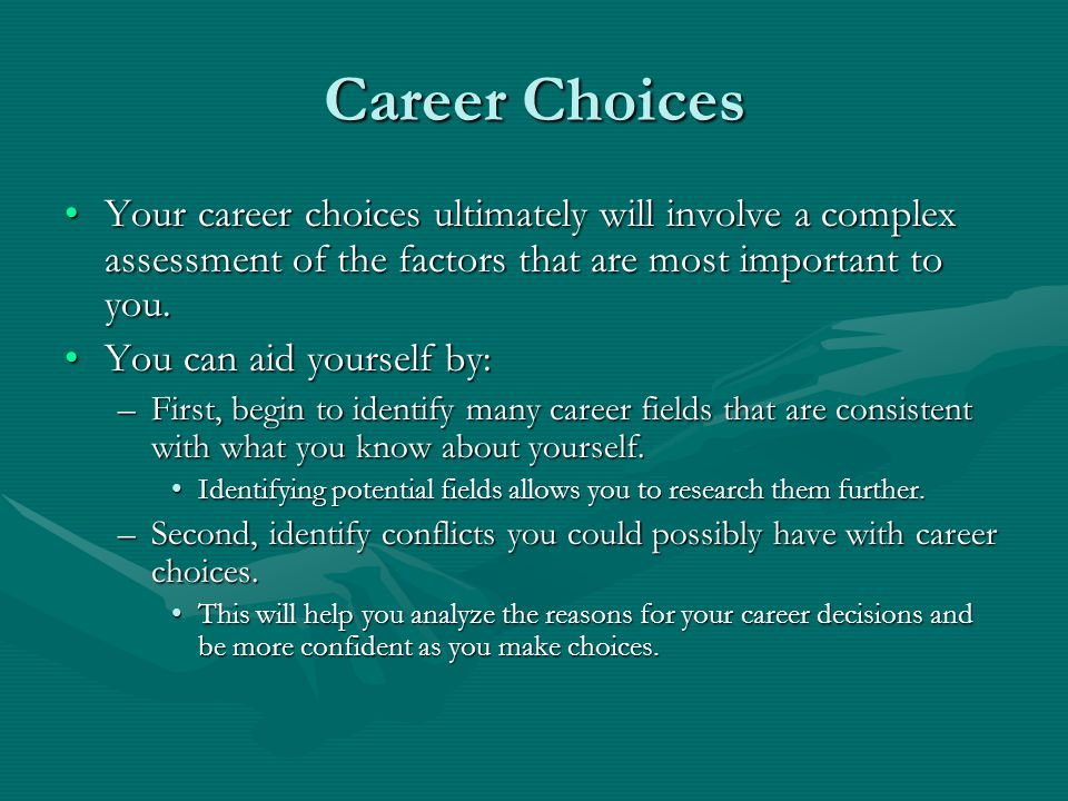 Majors and careers: making the right choices ppt video online.