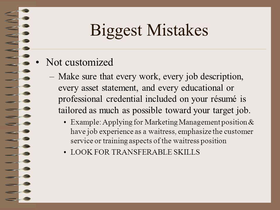résumés a section by section guide to writing your customized résumé