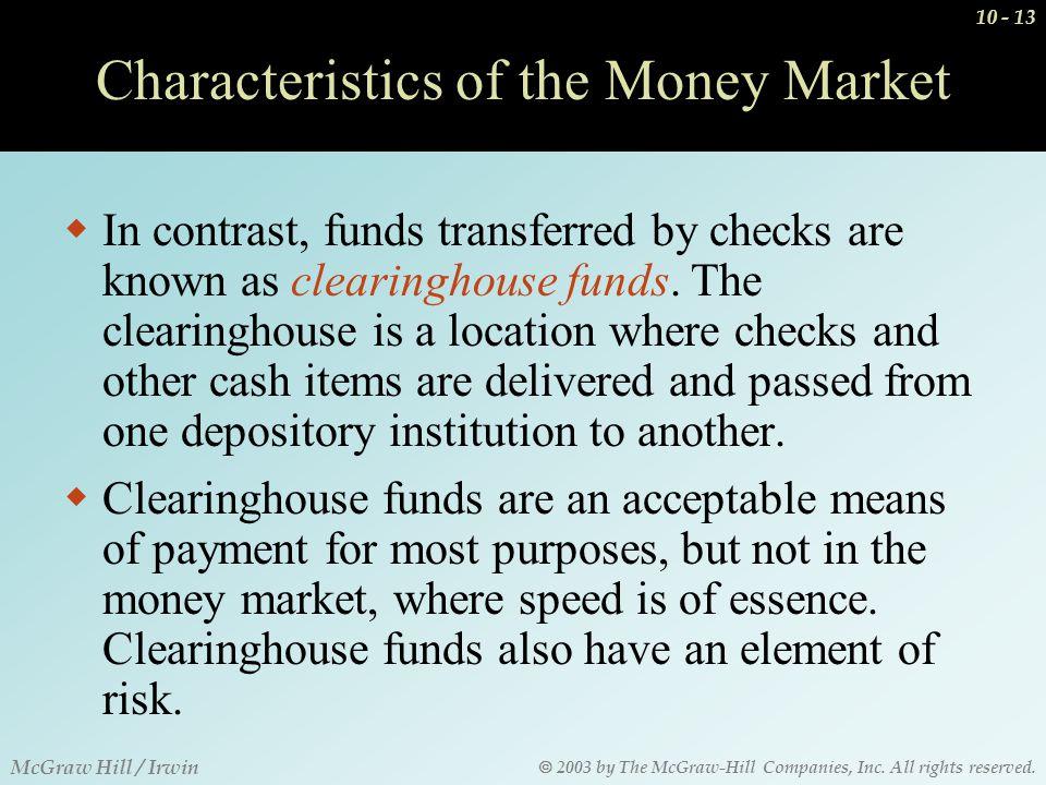 Characteristics of money market investments fatwa forex dunia bola