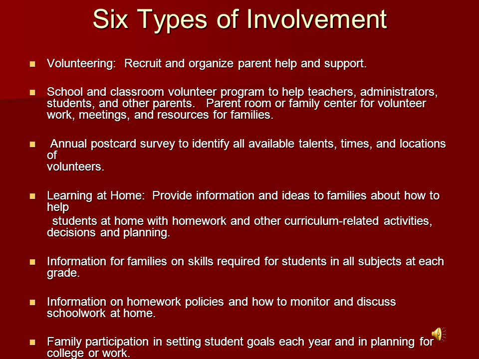 Six Types of Involvement