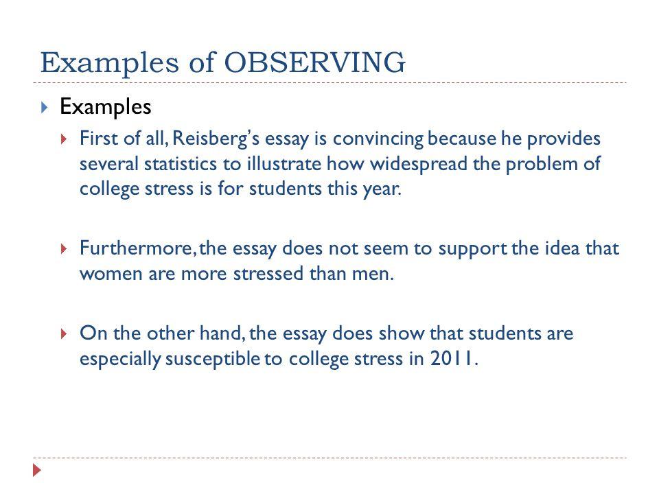 essay for statistics